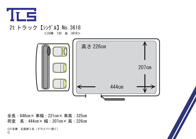 2t-No.3618平面図