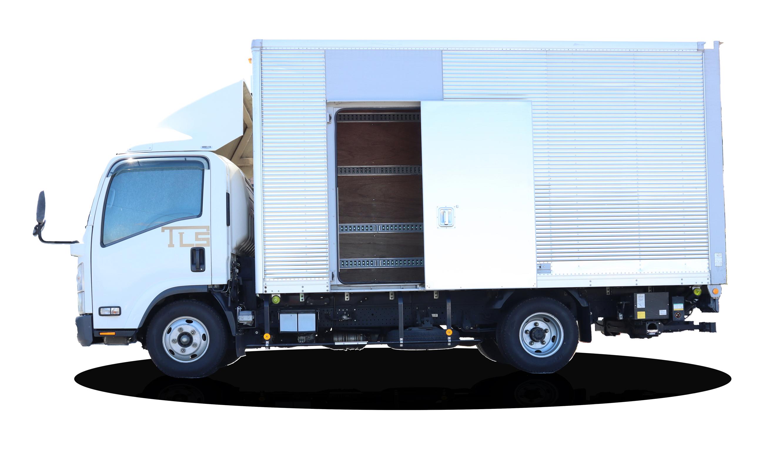 2トントラック側部開放