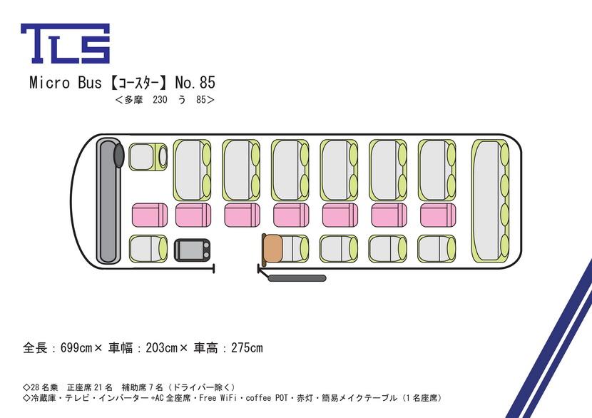 コースターNo.85平面図